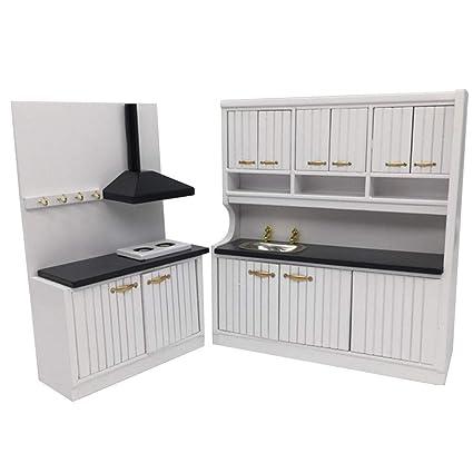 Amazon Com Kasien Dollhouse Accessory Mini Kitchen Set 1 12