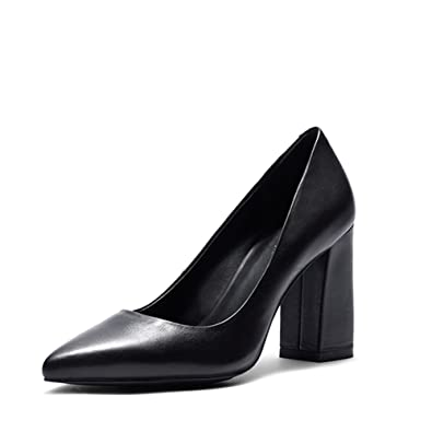 Darco   Gianni Womens High Heel Shoe Ladies Leather Dress Pump Pointed Toe Block  Heel Slip 841c0b0daf