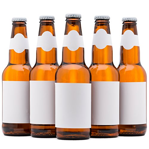 Beer Labels, Waterproof, Blank to be Personalized, Beer Bottle Labels 40 Pack, Inkjet Compatible]()