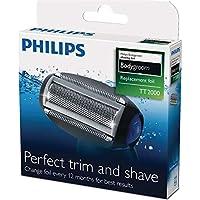 Philips TT2000/43 - Cabezal de recambio para afeitadoras corporales Philips TT2021 a TT2030, color gris