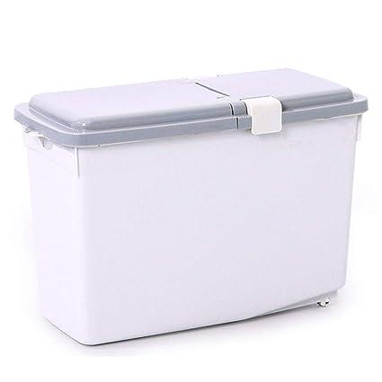 Dispensadores de cereales Cuchara para harina Caja de almacenamiento de arroz Cuchara de arroz doméstica Cilindro