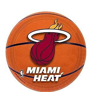 "Amscan Miami Heat Dessert Plates, 7"""