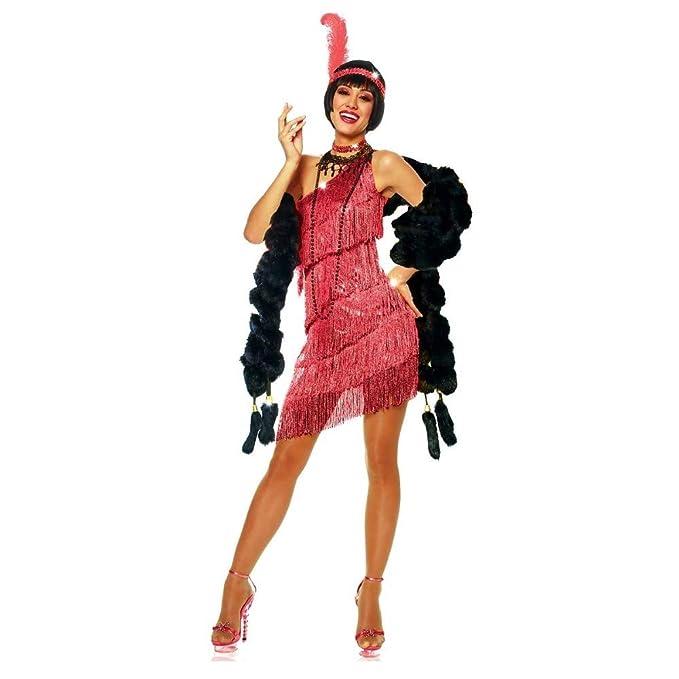 Amazon.com: Disfraz de solapa roja para adulto de los años ...