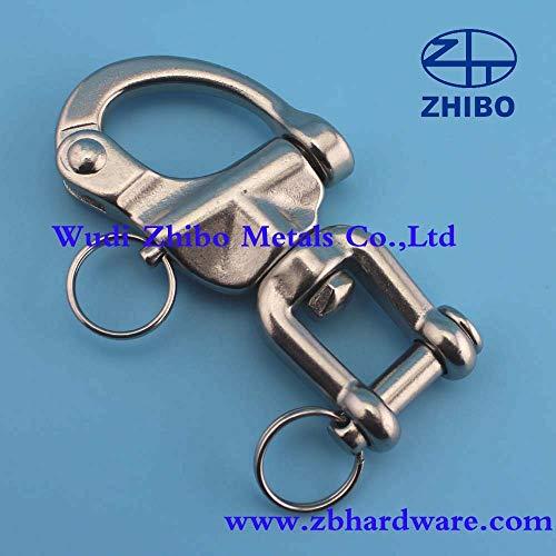 - Ochoos 70mm, Jaw Swivel Snap Tack Shackle for Sailboat - Stainless Steel316