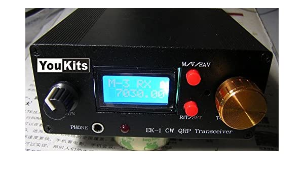 Youkits EK1A 3 Band HF CW QRP transceiver Kit Morse code 40m
