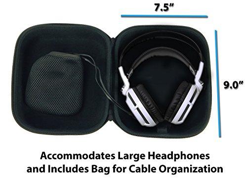 CASEMATIX Protective Gaming Headset Travel Case Bag - Fits SteelSeries Siberia 350 , Siberia 800 , 650 , Siberia V3 Prism , Raw Prism , Siberia 200 , Siberia V2 Headphones for PC Mac PS4 and XBOX