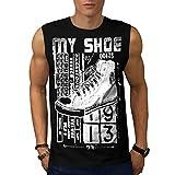 High Top Sneaker Shoe Urban Love Men NEW S-2XL Sleeveless T-shirt | Wellcoda