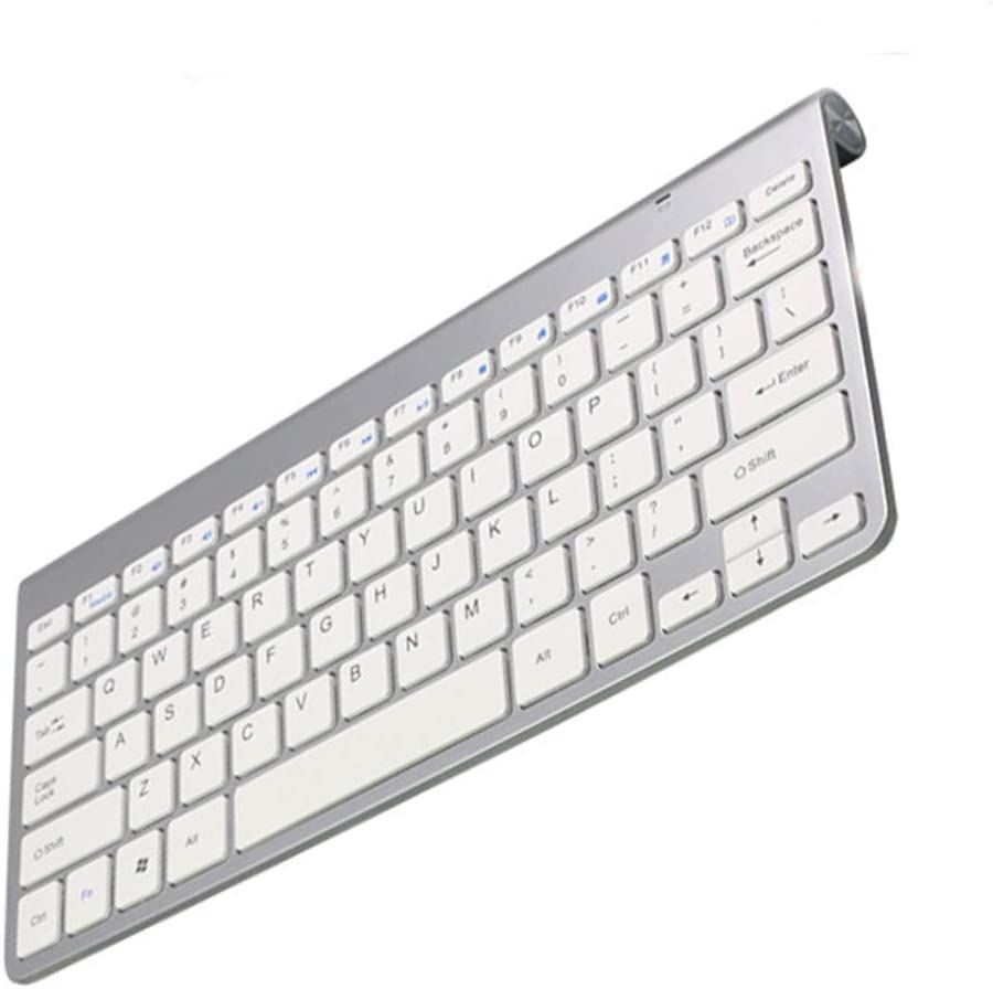 2.4G Ultra-Thin Compact Quiet Keyboard and Mouse Combination for Windows PC Laptop,A WZHESS Wireless Keyboard and Mouse Laptop