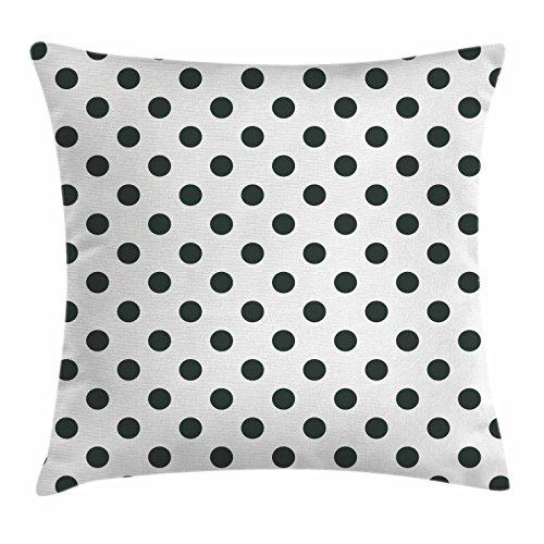 Ambesonne Retro Throw Pillow Cushion Cover, Nostalgic Polka