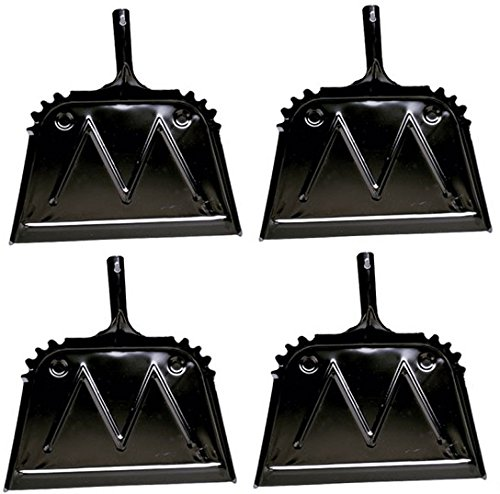 Impact Products 4216-90 16'' Black Metal Dust Pan - Quantity 4 by Impact Products (Image #2)