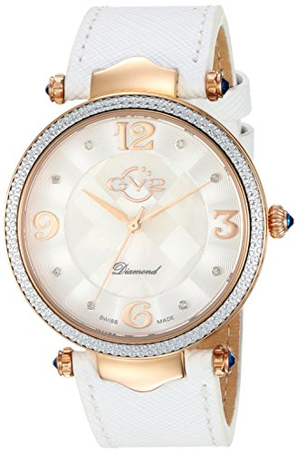GV2-by-Gevril-Womens-Sassari-Swiss-Quartz-Stainless-Steel-and-Leather-Casual-Watch-ColorWhite-Model-1003