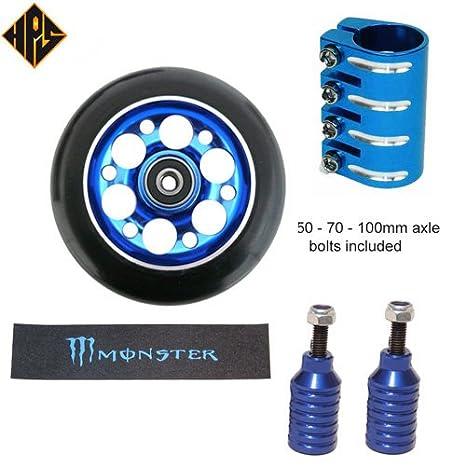 HPS Pro - Juego de ruedas de metal para patinete con ...