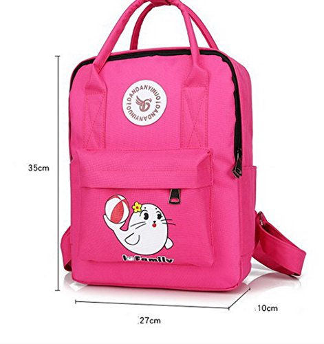 à Daypack Randonnée Mode Nylon Fleurs de Cramoisi Sacs TSFBH181087 Daypacks Femme AalarDom Dos TwFCXt