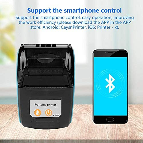 Blu Garsent Stampante Termica Senza Fili Portatile 58mm Mini Bluetooth Stampante Termica Portatile per Receipt Ticket,Stampante per Ricevuta POS per iOS//Android//Windows