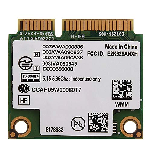 Zerone 2.4G/ 5G Dual-Band Wireless-AC 802.11 A/B/H/G/N Half Height Mini PCI-E WiFi Network Card for Intel 6250 WiMax Support DELL/Asus/Toshiba/Acer