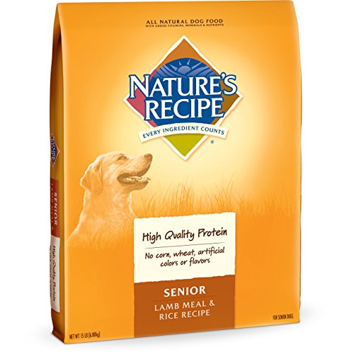 Nature's Recipe Senior Dog Food, Lamb Meal & Rice Recipe, 15-Pound
