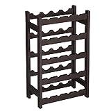 SONGMICS Wood 20-Bottle Wine Display Rack, Free Standing Bottles Storage Shelf, Wobble-Free, Espresso ULWR01BR