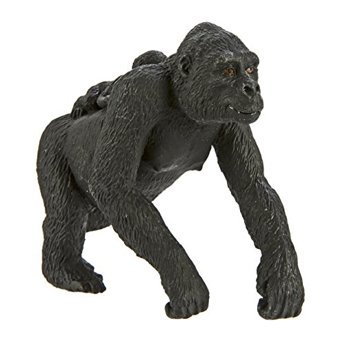 Safari Ltd Wild Safari Wildlife  Lowland Gorilla with Baby  Realistic Hand Painted Toy Figurine Model  Quality Construction from Safe and BPA Free Materials  For Ages 3 and Up