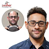 Lordhair Toupee Soft Full Swiss Lace Toupee With 100% Human Hair Hairpieces Hair Replacement For Men Color...