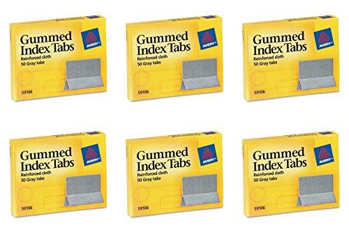 Avery Gummed Index Tabs, 50 Tabs (59106), 6 Packs