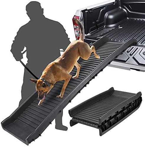 Epetlover Folding Pet Ramp Ladder Portable Lightweight Non-Slip Dog Ramp – Great for Cars Trucks SUVs, Up to 150lbs, Black
