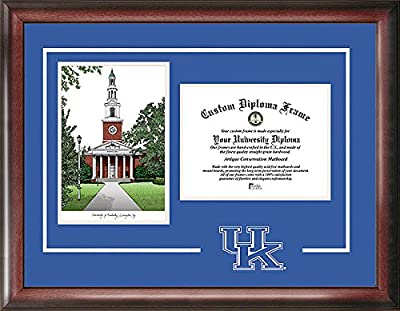 Kentucky Wildcats Spirit Graduate Diploma Frame with Imprinted Lithograph - 2017 Graduation Diploma Frame