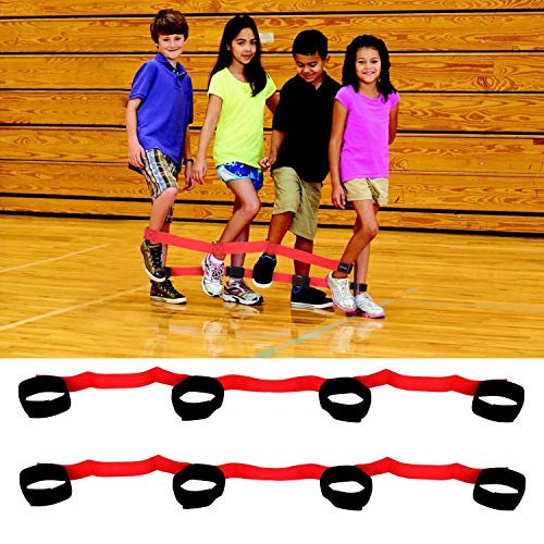 Cooperative Band Walker 4 Legged Race Bands Outdoor Game for Kids Adults Birthday Team Party Games Backyard Relay Race Game Carnival Field Day Pack of 2