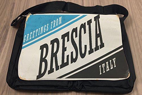 Umhänge Schulter Tasche Fernweh Stadt Brescia Italien bedruckt