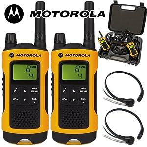 motorola tlkr t80. 10km motorola tlkr t80 extreme 2 two way radio walkie talkie travel pack with x comtech cm-215th ptt/vox throat mics for skiing \u0026 go karting - twin tlkr