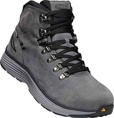 KEEN Utility - Men's Manchester 6'' WP (Aluminum Toe) Waterproof Work Boot for Maintenance, Transportation, Warehouse and Distribution, Forged Iron/Black, 9EE M US