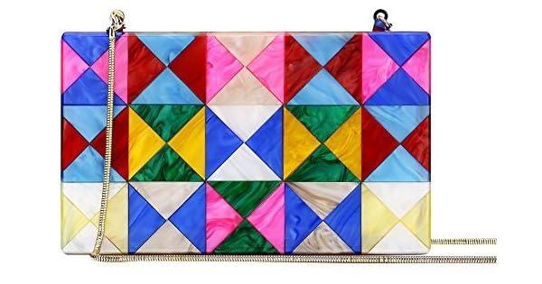 Amazon.com: Colorido acrílico embrague Monederos Bolsa de ...