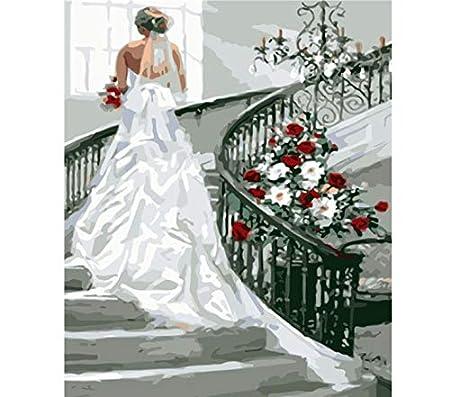 Abiti Da Sposa Fai Da Te.Huayao Dipinto Con Numeri Fai Da Te Scala Abito Da Sposa Figura