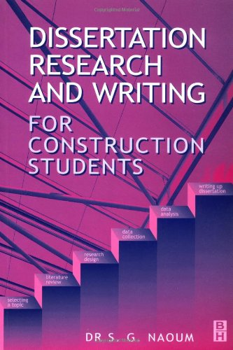 dissertation research writing construction students shamil naoum Dissertation research and writing for construction students: 3rd edition (item) (77579) - user-friendly, easy to dip into guide for all built environment students takes the reader from the stage of choosing a topic to writing a well-structured dissertation best case practice illustrated with numerous examples, case studies and references.