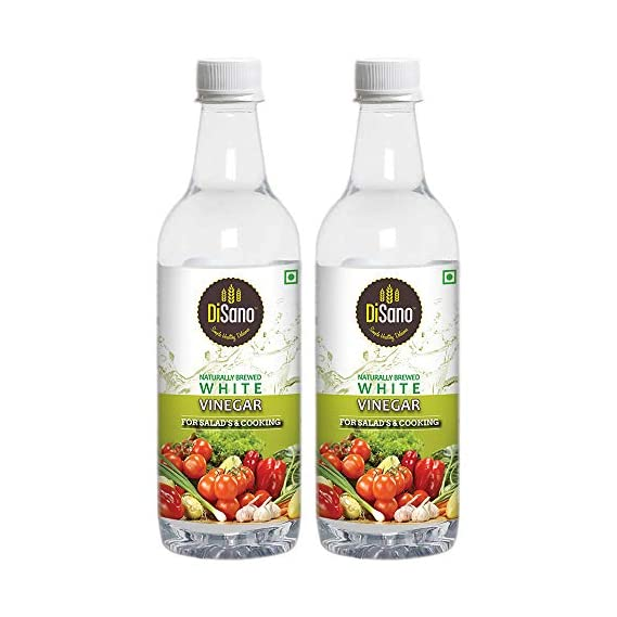 Disano Naturally Brewed White Vinegar Bottle, 2 x 500 ml
