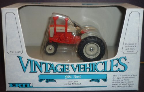 #2508 Ertl Vintage Vehicles 961 Ford Tractor 1/43 Scale Diecast -