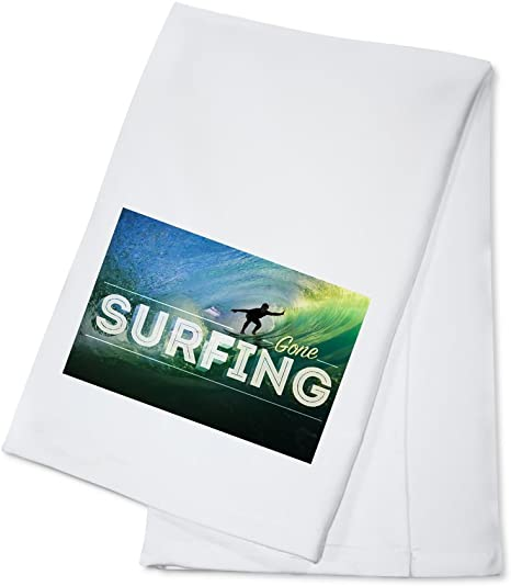 Surfer In Wave Gone Surfing 100 Cotton Kitchen Towel Kitchen Dining