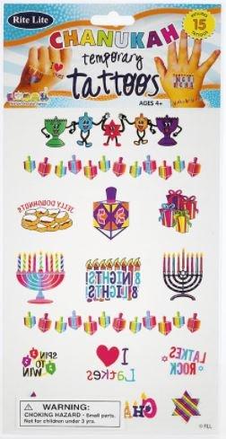 Hanukkah Temporary Tattoos Chanukah
