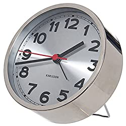 Present Time Karlsson Numbers Alarm Clock, Steel