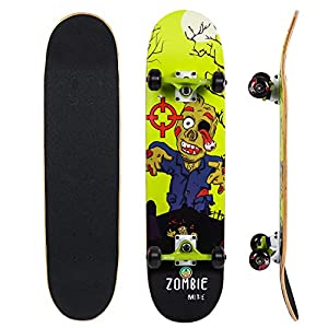 "IMITOR 31"" Skateboard Comes Complete 8 Ply Maple Wood Double Kick Pro Skateboards for Teens Beginners Youths Kids Beginners and Professional"