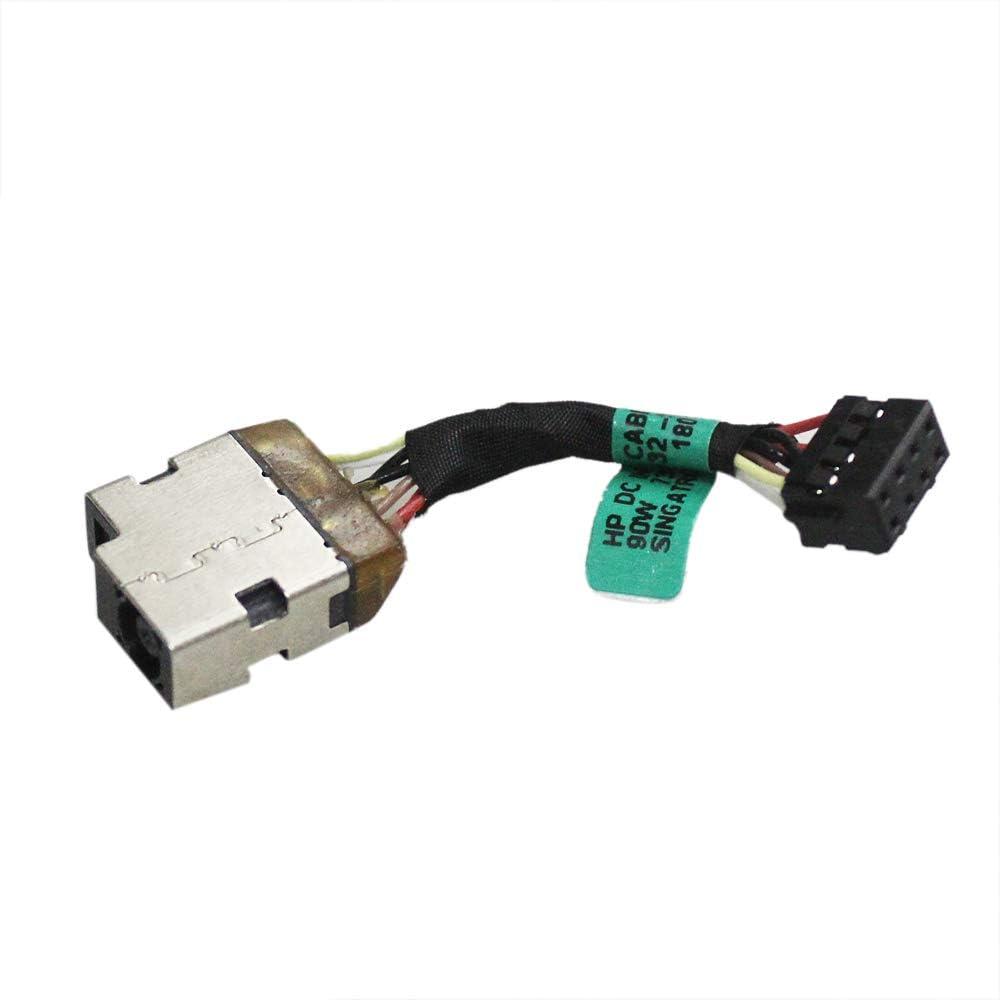Zahara DC Power Jack Cable Socket Plug Replacement for HP 15-f018dx 15-f019dx 15-f010wm 15-f011nr 15-f023wm 15-f024wm 15-f014wm 15-f018ca 15-f001xx 15-f003dx 15-f004dx 15-f004wm