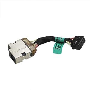 Zahara DC Power Jack Cable Socket Plug Replacement for HP 15-f100dx 15-f111dx 15-f233wm 15-f240ca 15-f247nr 15-f271wm 15-f004dx 15-f004wm 15-f008cl 15-f009ca 15-f113ca 15-f128ca