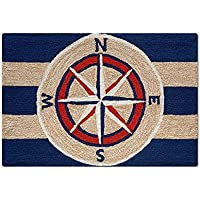 Maritime Compass Nautical Rug - 2x3
