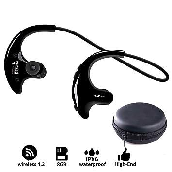 OLPvh Mp3 Reproductor de música portátil usable Auriculares ...