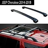 Fit Jeep Cherokee 2014-2017 Roof Racks Crossbar Baggage Roof Rack Rail Cross Bar - Black