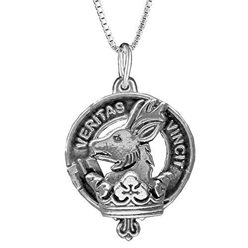 Keith Scottish Clan Crest Pendant - Sterling Silver (Crest Pendant Sterling Silver Jewelry)