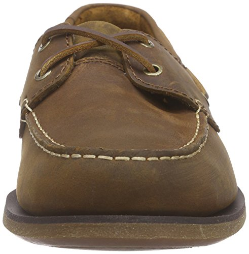 Clarks Port View Herren Bootsschuhe Braun (Mahogany Leather)