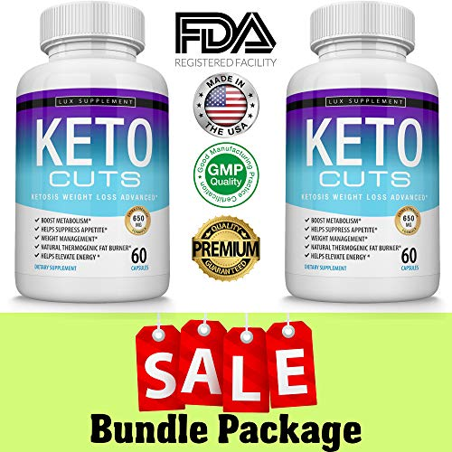 Keto Cuts Pills Ketosis Weight Loss Advanced – Best Ultra Fat Burner Using Ketone and ketogenic Diet, Boost Metabolism and Energy While Burning Fat, Men Women, 60 Capsules Lux Supplement