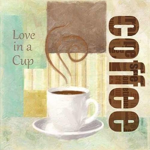 """LOVE IN A CUP by Taylor Greene - 24"""" x 24"""" Premium Canvas Print"""