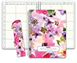 6 Period Teacher Lesson Plan; Days Vertically Down The Side (W202) (Spring Floral)