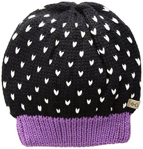 Columbia Girls' Big Powder Princess Hat, Black, Crown Jewel, One -